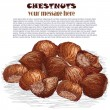 Royalty-Free Stock Vector Image: Chestnuts
