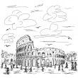 Rome colosseum — Stock Vector