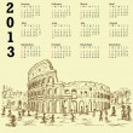 Rome colosseum vintage 2013 calendar — Stock Vector #13683092