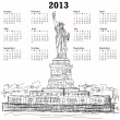 Statue of liberty 2013 calendar — Stock Vector #13683112