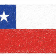 Flag of chile — Stock Vector