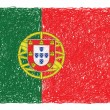 Stock Vector: Flag of portuga