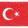 Flag of turkey — Stock Vector