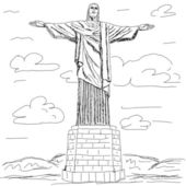 Cristo redentor — Stock Vector