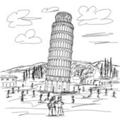 Leaning tower of pisa — Stock Vector