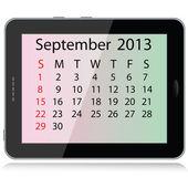 September 2013-kalendern — Stockvektor