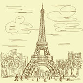 Vintage eifel tower — Stock Vector
