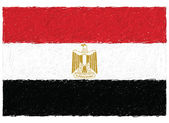 Flag of egypt — Stock Vector