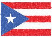 Flag of puerto rico — Stock Vector