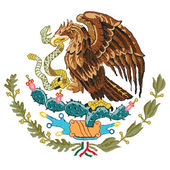 Mexico coat of arms — Stock Vector