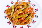 Sweet and sour chicken top angle — Stock Photo