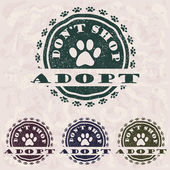 Adopt don't shop — Stock Vector