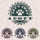 Adopt don't shop — Stock Vector
