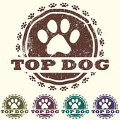 Top dog — Stock Vector