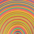 Stock Photo: Rubber strips rainbow pattern