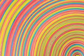 橡胶条彩虹图案低角中心 — 图库照片
