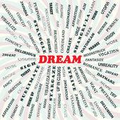 Dream — Stock Vector