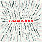 Teamwork — Vettoriale Stock