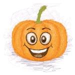 Happy pumpkin — Stock Vector