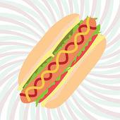 Hotdog — Stock Vector