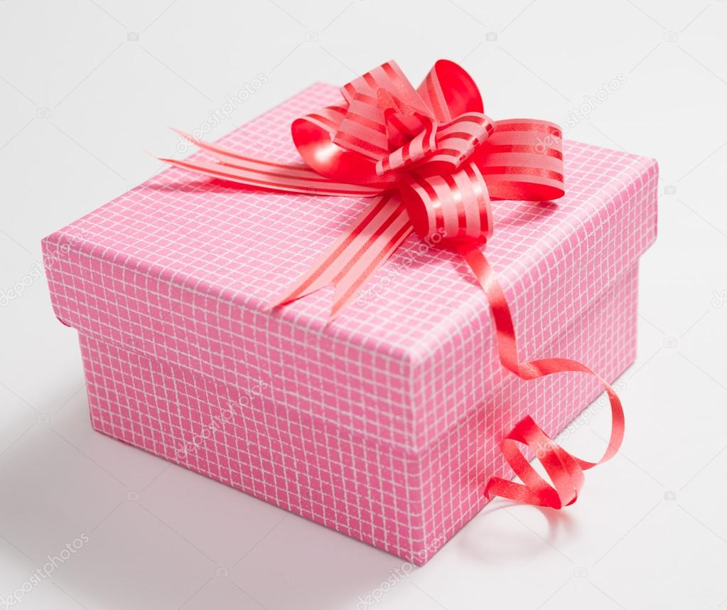Gift box on white background  Stock Photo #14551833