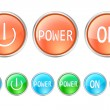 Power buttons — Stock Vector #22226415