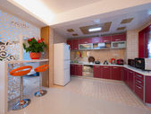Modern domestic kitchen — Stock Photo