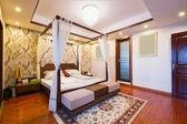 Luxury bedroom with Chinese style — Stock Photo