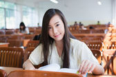 Chinese female college student — Stock Photo