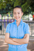 Smiling Chinese college student — Stock Photo