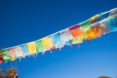 буддистские молитвенные флаги — Стоковое фото