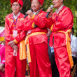 Chinese men singing in Zhuang ethnic Festival — Stock Photo #25369203