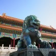 Bronze lion in Forbidden City — Stock Photo #25499981