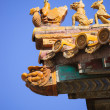 ������, ������: Sculptures on the palace roof in Forbidden City