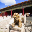 Foto Stock: Bronze lion in Forbidden City