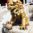 Bronze lion in Forbidden City — Stock Photo #25503689