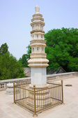 Buddhist adornment tower — Stock Photo
