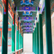 Corridor of Chinese ancient pavilion — Stock Photo