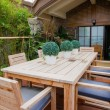 Table and chairs outdoor — Stock Photo