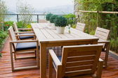 Table and chairs outdoor — Foto Stock