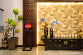 Interior decoration of Chinese style — Stock Photo