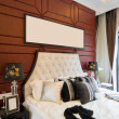 Luxury comfortable bedroom — Stok fotoğraf