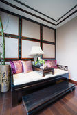 Sofa with Chinese style — Stock Photo