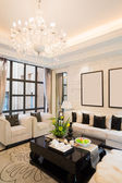 Luxusní obývací pokoj — Stock fotografie