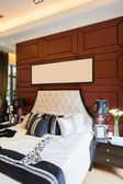 Luxury comfortable bedroom — 图库照片
