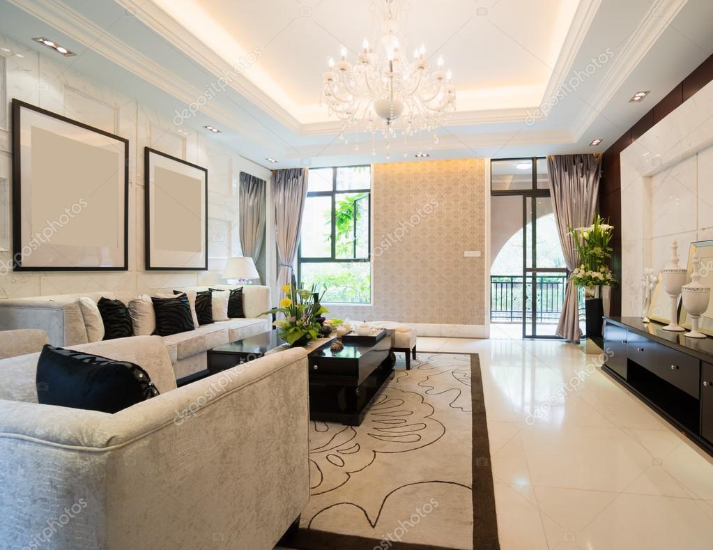 Sala De Estar Luxo ~ Sala de estar de luxo — Fotografias de Stock © roseburn3djob