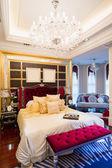 Lüks yatak odası — Stok fotoğraf
