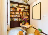 Living room with Chinese style — Stock Photo