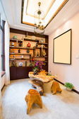 Living room with Chinese style — Fotografia Stock