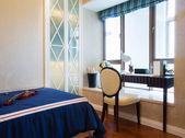 Nice bedroom — Stockfoto